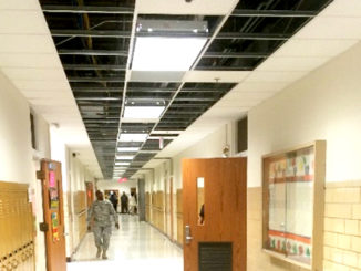 First floor corridor at South Oak Cliff High School 12.7.2015