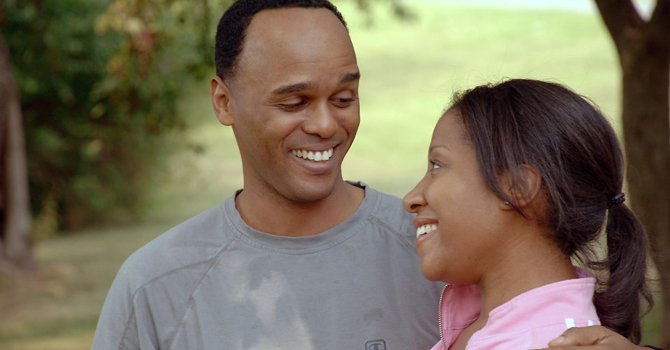 Black couple in park