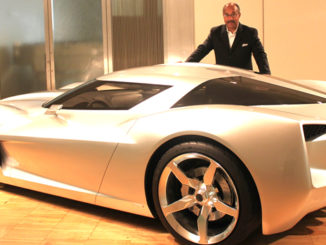 Ed Welburn with Transformer 3 corvette 2010