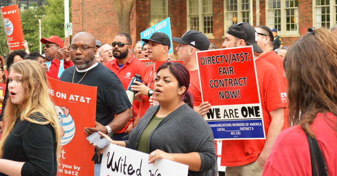 ATT Protest in Dallas 1
