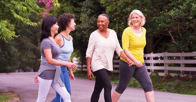 Diabetes women walking