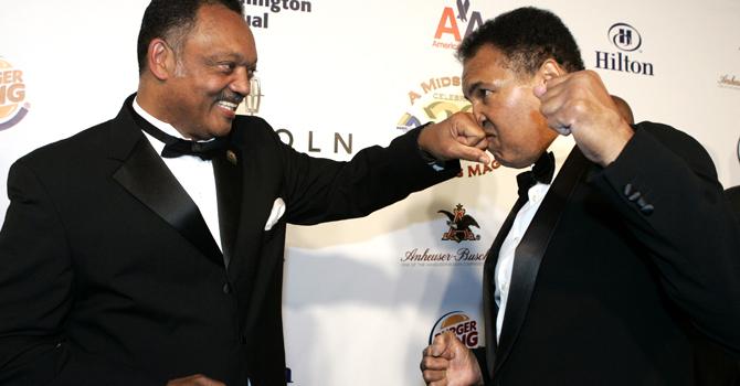 Jesse Jackson and Muhammad Ali