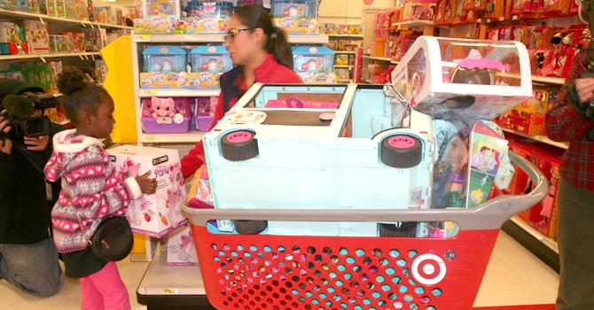 Gabrielle Simmons children shopping spree