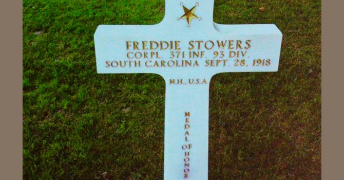 Freddie Stowers grave marker