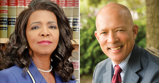 Attorney Faith Johnson and Judge John Creuzot