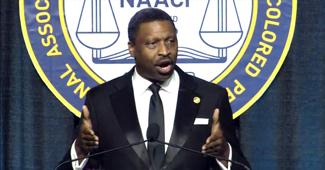 NAACP President and CEO Derrick Johnson at convention
