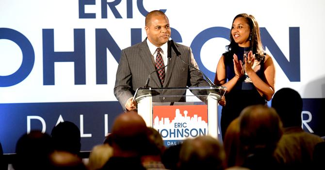 Mayor elect Eric Johnson