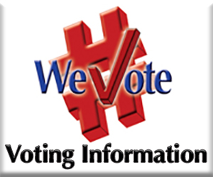 WeVote Voter Information button