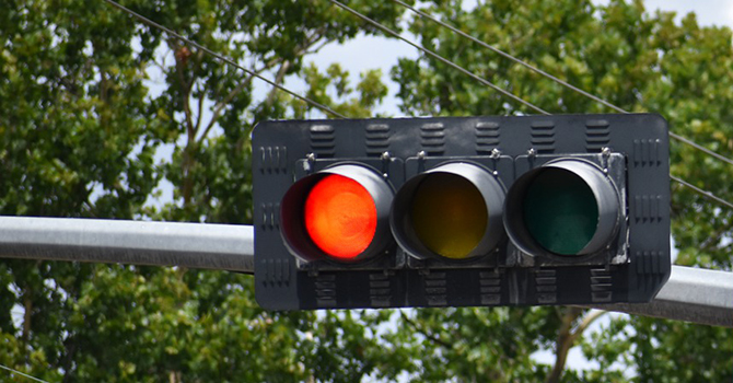 Traffic signals in Southern Dallas