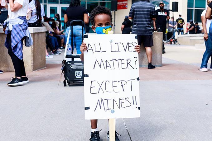 Protest prayer in Dallas Texas
